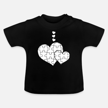 Puzzle Jigsaw Puzzle - Puzzlen - Puzzle - Herz - Baby T-Shirt