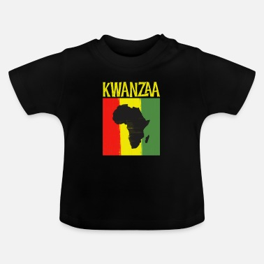 Ancestry Kwanzaa Africa Map Black Ancestry Heritage Holiday - Baby T-Shirt