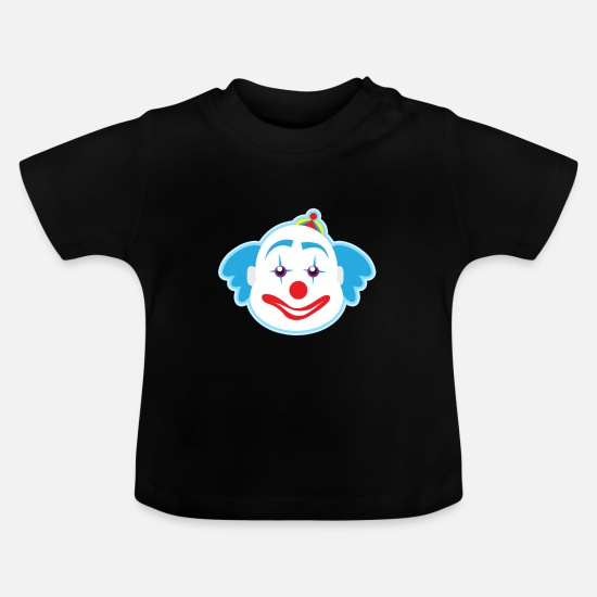 Birthday Baby Clothes - funny clown plants fruits vegetables kids motifs - Baby T-Shirt black