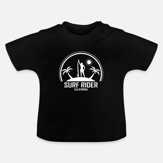 Surfer Babytøj - surfing - Baby T-shirt sort