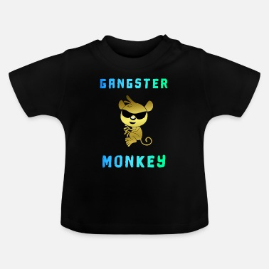 Gangster Monkey monkey gangster monkey sunglasses - Baby T-Shirt