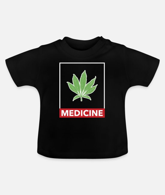 Nature Baby T-Shirts - Marijuana cannabis weed hashish hemp - Baby T-Shirt black