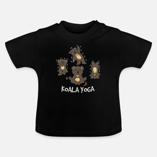 School Boys Baby Clothes - Koala bear - Baby T-Shirt black