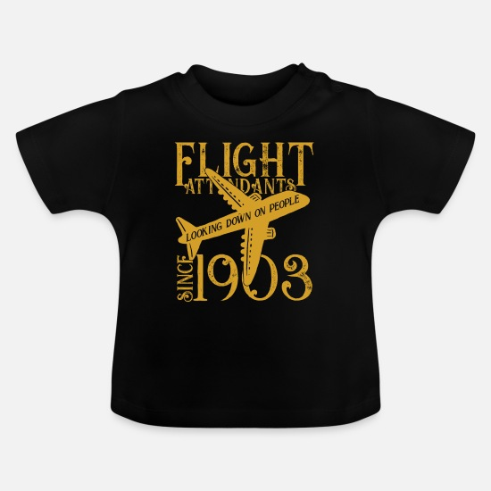 Gift Idea Baby Clothes - flight attendant - Baby T-Shirt black