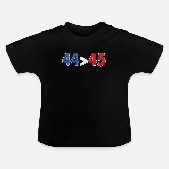 Birthday Baby Clothes - 44 Turning 45 - Baby T-Shirt black