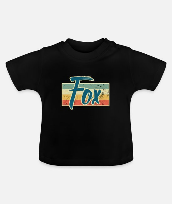 Bosdier Baby shirts - Fox Animal Forest Smart Clever Streber Gift - Baby T-shirt zwart