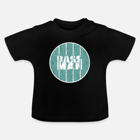 Guitar Babytøj - Bass Man Gift Christmas Bassist - Baby T-shirt sort