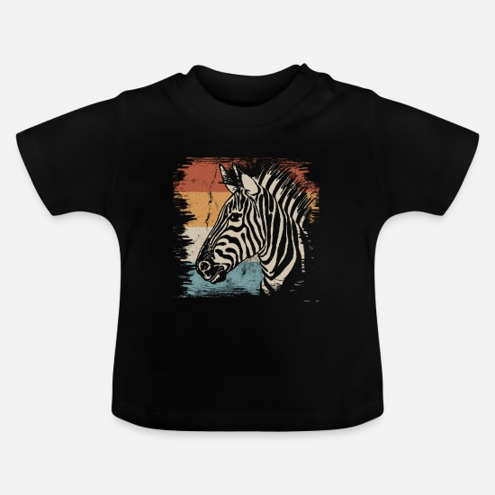 Gift Idea Baby Clothes - zebra - Baby T-Shirt black