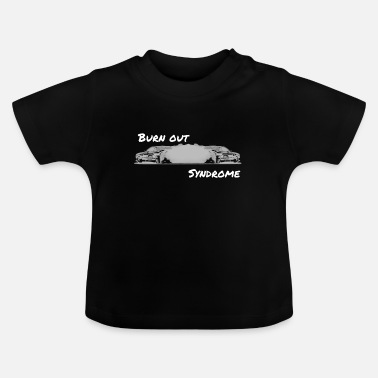 Morbide Burn-out syndroom wit - Baby T-shirt