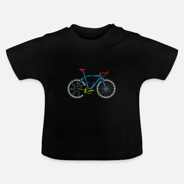 Glass Underwear Bicycle anatomy for bike and cycling lovers - Baby T-Shirt