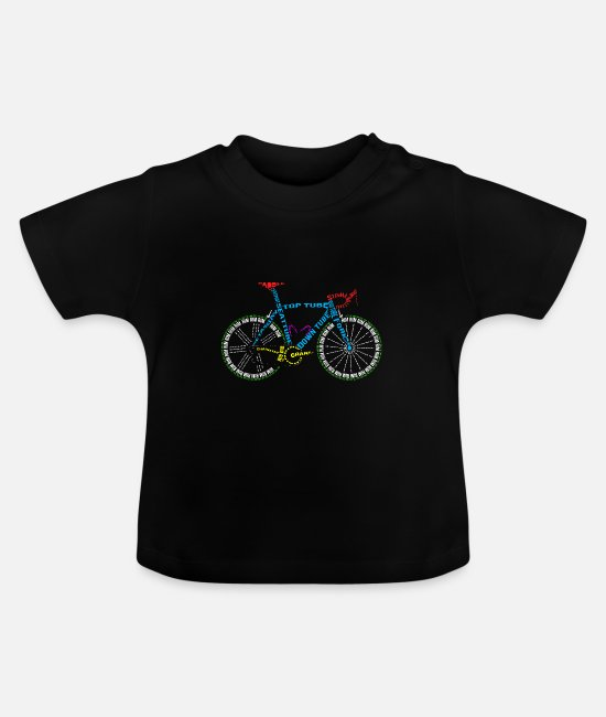Cycling Baby T-Shirts - Bicycle anatomy for bike and cycling lovers - Baby T-Shirt black