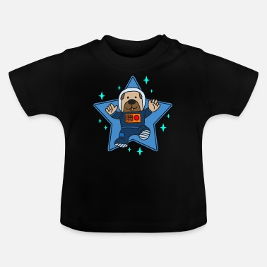 Wau Astronaut Dog Space Flying Wau Wau - Baby T-Shirt