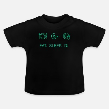 Deejay EET SLAAP DJ Deejay Dance Party LED-cadeauidee - Baby T-shirt