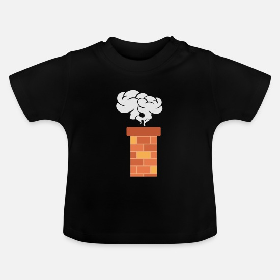 Gift Idea Baby Clothes - Fireplace Christmas gift chimney - Baby T-Shirt black