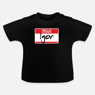 Horror Film Igor Halloween Costume Scary Horror film Trick or - Baby T-Shirt