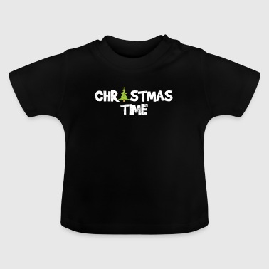 Peace Christmas time gift Christmas tree - Baby T-Shirt