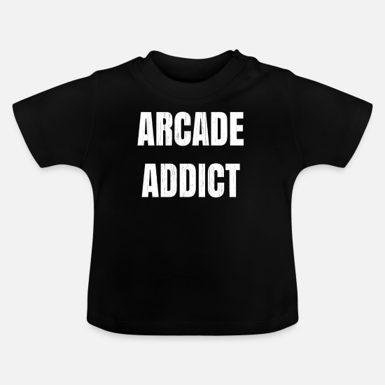 Gift Idea Baby Clothes - Arcade Machine Gift for Gamers and Lovers of Pinball Machines, Arcade Games and Amusement Halls - Baby T-Shirt black
