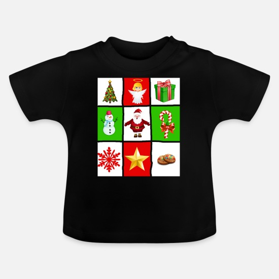 Gift Idea Baby Clothes - Ugly Christmas - Baby T-Shirt black