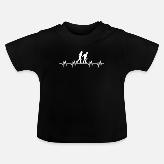 Gift Idea Baby Clothes - inline skating - Baby T-Shirt black