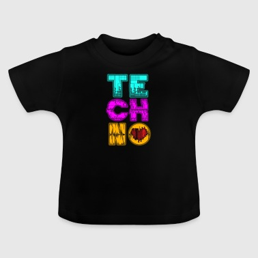 Hardstyle Techno heart gift - Baby T-Shirt