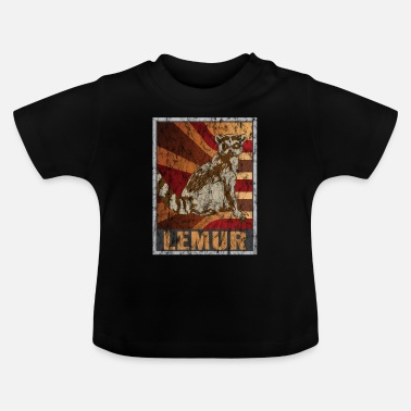 Tv Retro Lemuren Poster Distressed Look - Baby T-shirt
