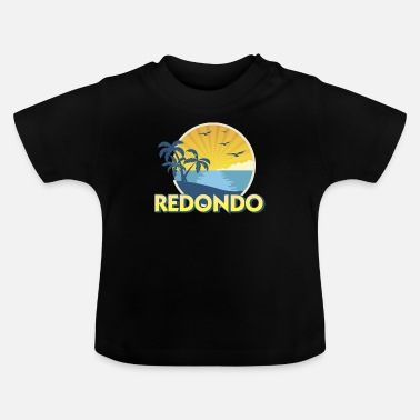 Zout Water Vissen Vintage Redondo Beach, Californië Surft Retro 70s - Baby T-shirt