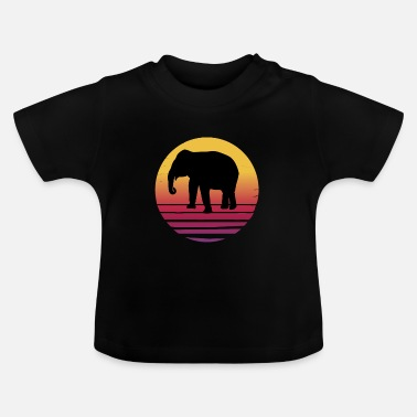 Serengeti Elephant Africa Serengeti - Sunset - Baby T-Shirt