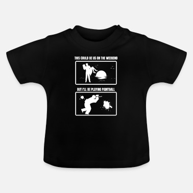 Paintball Paintball paintball speler cadeau idee - Baby T-shirt