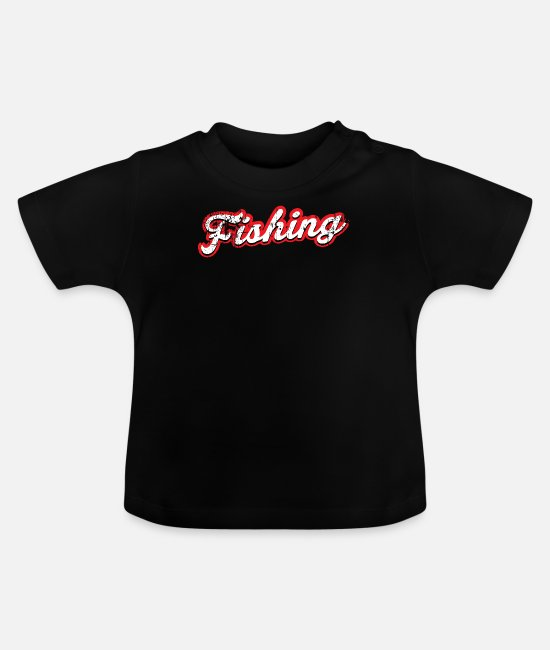 Bass Baby Clothes - fishing - vintage & distressed - Baby T-Shirt black