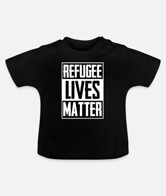 Middle East Baby T-Shirts - Refugee Life Immigrant Charity - Baby T-Shirt black