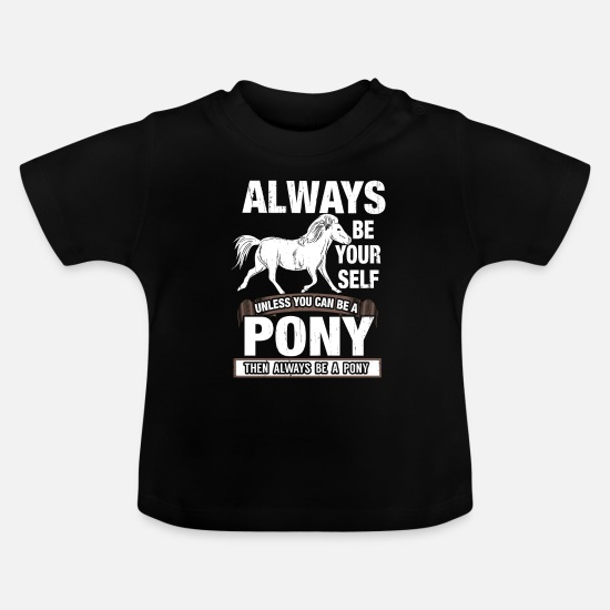 Pony Babytøj - pony - Baby T-shirt sort