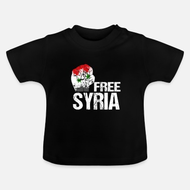Syria welcome refugees gift idea - Baby T-Shirt