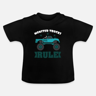 Luxe Monster Trucks Rule luxe en glorieus - Baby T-shirt
