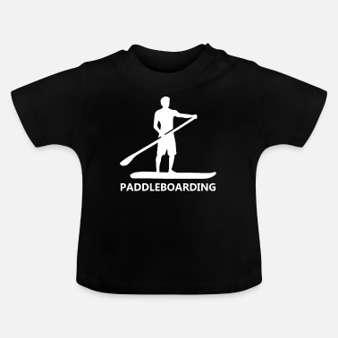 Surf-board Paddle Boarding or Paddle Surfing - Baby T-Shirt