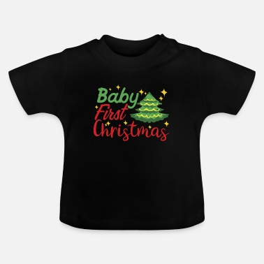 Bebisordspråk JUL BABY FIRST CHRISTMAS - Baby-T-shirt