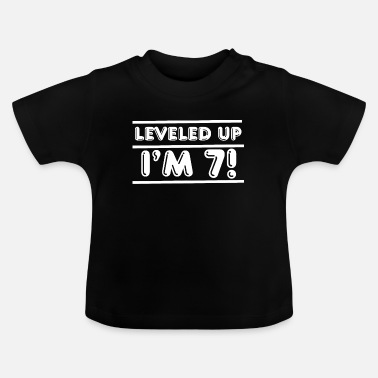 Up Leveled up! Happy 7th Seven Birthday Boy - Baby T-Shirt