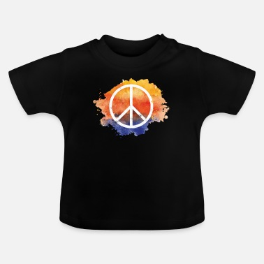 Symbol Symbol fred gave verdens fred hippie - Baby T-shirt