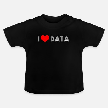 Statistiek Computerwetenschappen big data-analyse van statistieken - Baby T-shirt