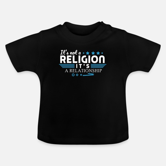 Menorah Baby Clothes - Its not a religion its a relationship - Baby T-Shirt black