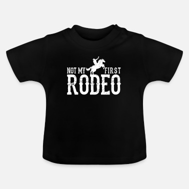 Country Rodeo cowboy paard - Baby T-shirt