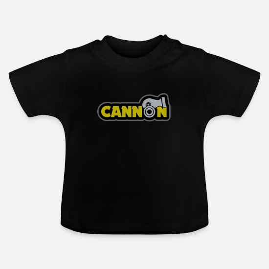 Birthday Baby Clothes - Cannon gift medieval ball - Baby T-Shirt black