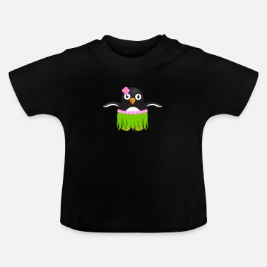 Rock Skirt Hawaiian Hula Penguin Skirt - Baby T-shirt