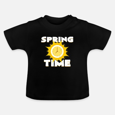 Clock Cadran du printemps Spring Clock - T-shirt Bébé