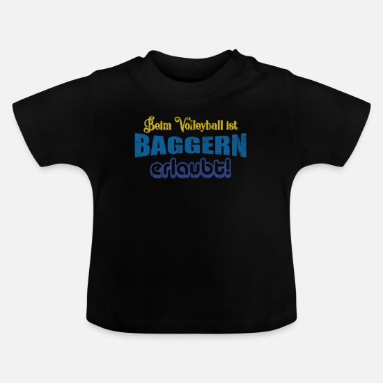 Volleyball Spillere Babytøj - Volleyball grave - Baby T-shirt sort