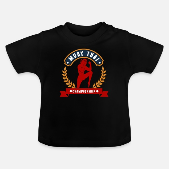 Muay Thai Baby Clothes - Muay Thai Combat Sports Championship - Baby T-Shirt black