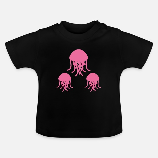 Gift Idea Baby Clothes - Jellyfish attitude - Baby T-Shirt black