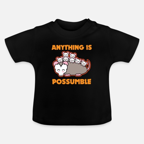 Funny Possum Opossum Pun Anything Is Possumble Baby T Shirt