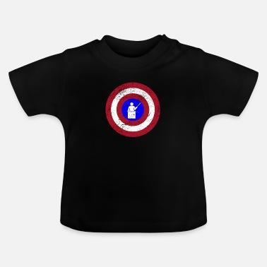Shield Grappig Captain Teacher Superhero-schildontwerp - Baby T-shirt