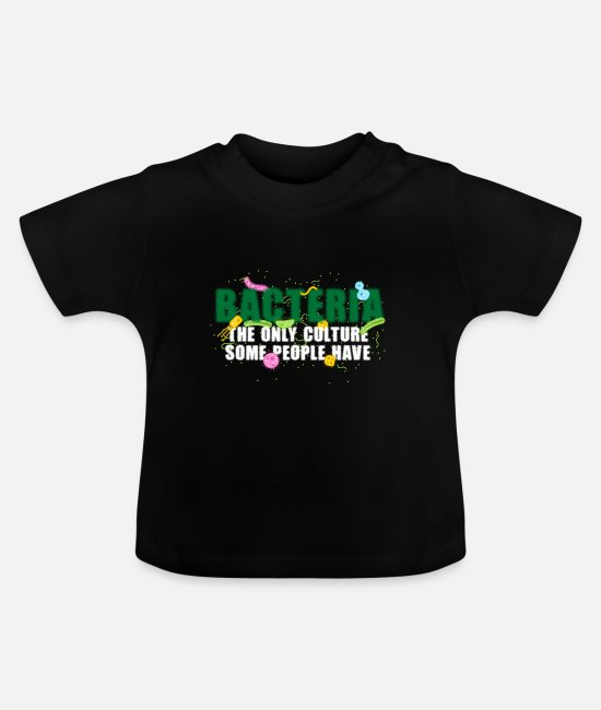 Biology Baby Clothes - Bacteria culture - Baby T-Shirt black