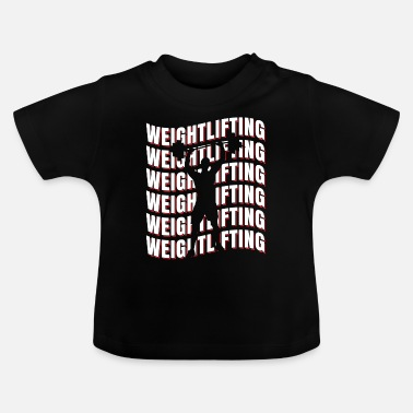 Lyft Weightlifting sport gåva - Baby-T-shirt